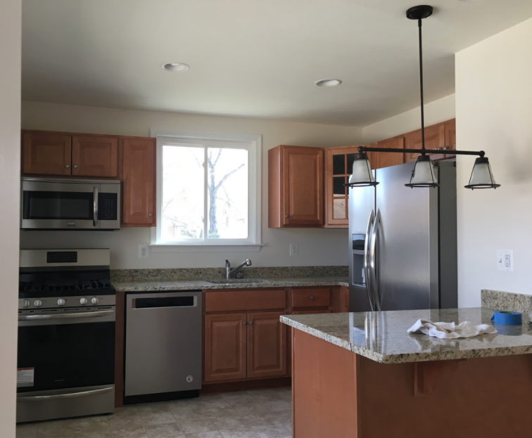 Kitchen fire before and after photo modern remodeling