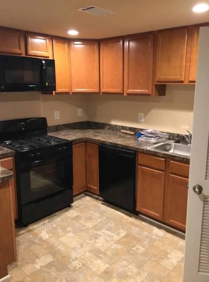 Rebuilt kitchen by Modern Remodeling after fire