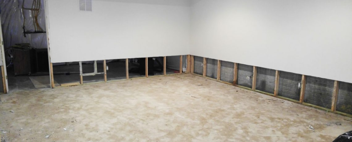 A basement being remodeled