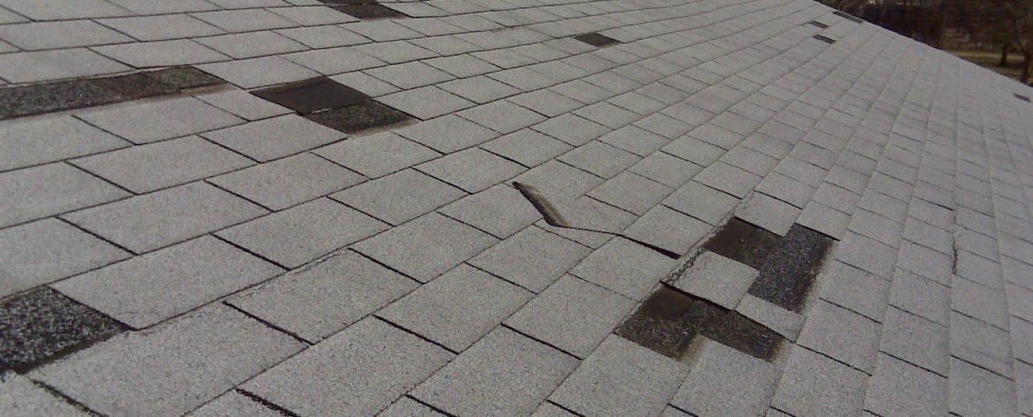 Modern wind damage roof repair